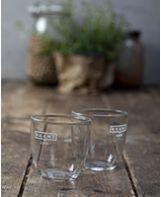 זוג כוסות קפוצ'ינו מזכוכית
