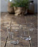 זוג כוסות קפוצ'ינו גדול מזכוכית