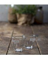 זוג כוסות אספרסו מזכוכית